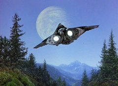 Departing starship TBfE