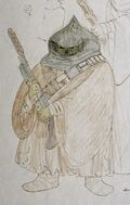John Mollo's original 1976 design for the Jawas of Tatooine