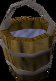 Bucket of water detail