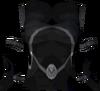 Elf-style dress top (black) detail