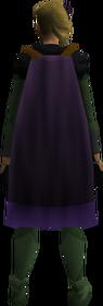 Cape (purple) equipped