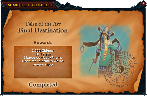 Final Destination reward