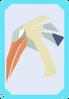 Preening ibis card (solo) detail