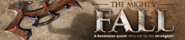 The Mighty Fall lobby banner