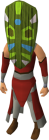 Tribal mask (green) equipped