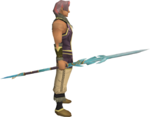Attuned crystal staff equipped