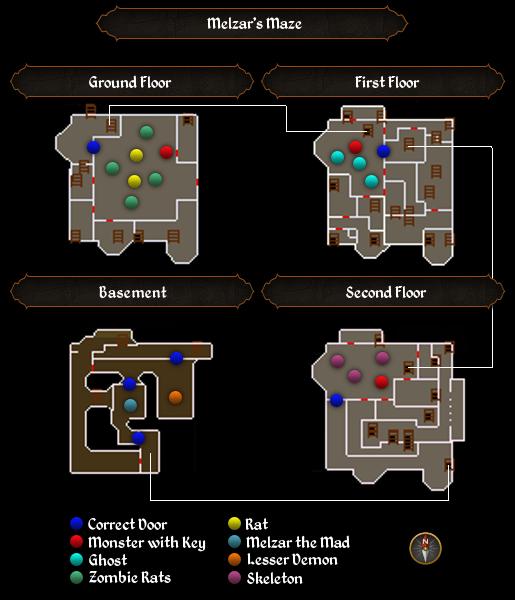 Melzar's Maze map