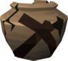 Cracked mining urn (r) detail