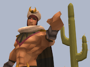The Bandit King pointing