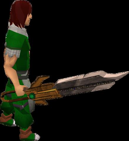 File:Dwarven longsword equipped.png