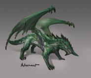Adamant dragon concept art