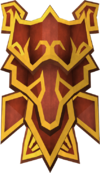 Dragon square shield (or) detail