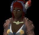 Tribal ringlet (black, female)