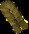 Werewolf legs (gold, male) detail