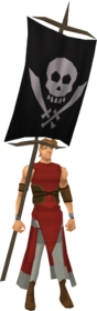 Cutthroat flag equipped