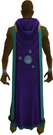 Hooded divination cape (t) equipped