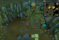 Scan clue Brimhaven Dungeon lower level north-east side of fire giant chamber.png
