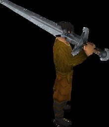 Steel 2h sword equipped