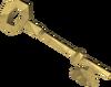 Gold key detail