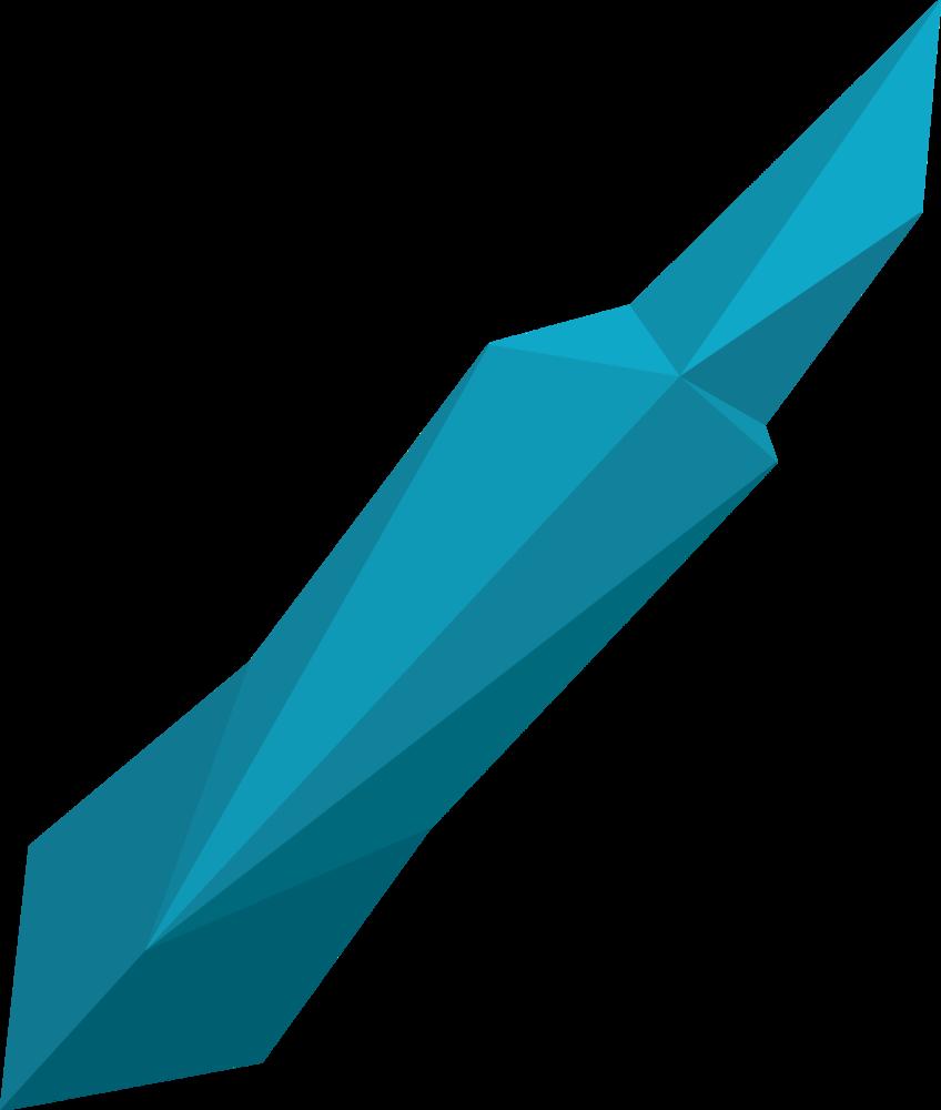 Prismatic crystal detail
