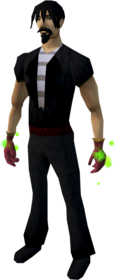 Swift gloves (red) equipped
