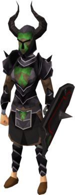 Black heraldic armour set 4 (sk) equipped