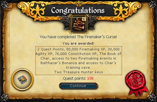 The Firemaker's Curse reward