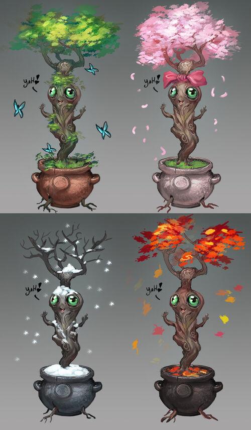 Pet of Seasons concept art