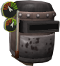 Modified blacksmith's helmet chathead