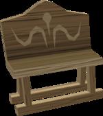 Carved oak bench built