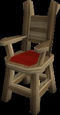 Oak armchair built