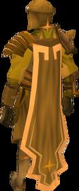 Golden warpriest of Saradomin cape equipped