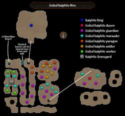 Exiled Kalphite Hive map