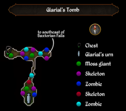 Glarial's Tomb map