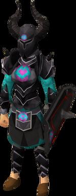 Black heraldic armour set 1 (sk) equipped