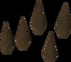 Bronze arrowheads detail