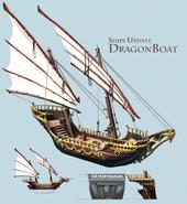 Dragon boat concept art