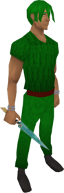 Crystal dagger equipped