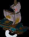 Toy royal battleship (battleworn) detail