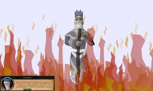 Wise Old Man in Defender of Varrock