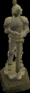 Temple Knight Statue