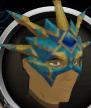 Crystal Peacock Helmet chathead