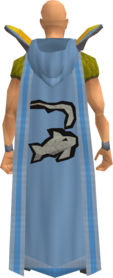 Retro hooded fishing cape equipped