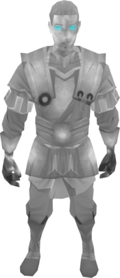 Ghostly guard outfit equipped