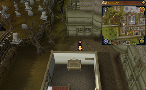 Scan clue West Ardougne between chapel and graveyard