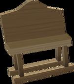 Oak bench built