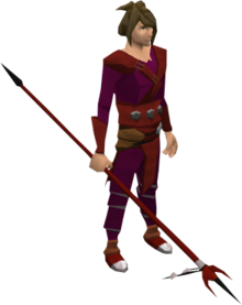 Anger spear equipped