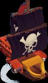 Toy pirate battleship