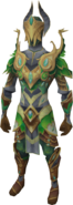Elven warrior outfit equipped