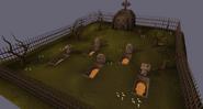 Gravedigger crime scene